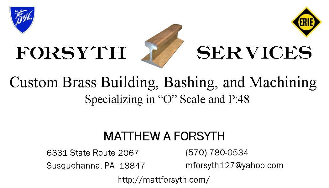 Business Card Forsyth Rail Services